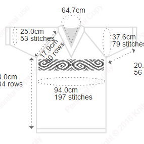 An example of our 'Swirls' chart on an adult t-shirt